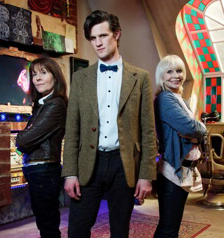 Elisabeth-Sladen-Matt-Smith-Katy-Manning